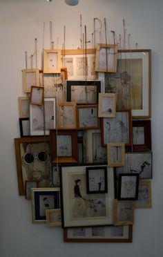 Framed art installation