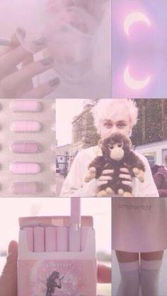 Michael Clifford pink grunge lock screen  Twitter: @screenartkid