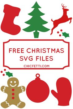 Free Holiday SVG Files from Chicfetti.com