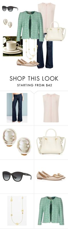 """""""Brunch with friends"""" by ladydianacooper ❤ liked on Polyvore featuring Alloy Apparel, Majorica, Nina Ricci, Dolce&Gabbana, Roger Vivier, Marco Bicego and Giambattista Valli"""