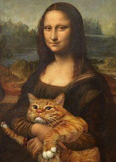 La Gioconda con Gatto - Da Vinci