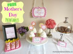 Free Mother's Day Printables #MothersDay