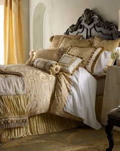 """""""La Dolce Vita"""" Bed Linens by Dian Austin Couture Home at Horchow."""