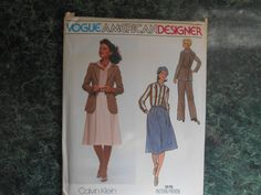 Vogue American Designer Sewing Pattern 1619 - Calvin Klein Size 12 by WeBGlass on Etsy