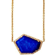 Check out this item at One Kings Lane! 14K Lapis Cubist Necklace