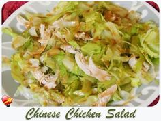 Try this local favorite Chinese Chicken Salad recipe with peanut dressing, delicious! Get more local style recipes here.