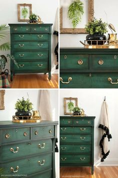 Layering Chalk Painted Dresser - Collage