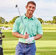 Look good on the links or anywhere that's warm. This breathable, technically sound polo is attractive and functional - just like you, you sly dog. Preppy Men, Southern Marsh, Preppy Outfits, Cut Crease, Collar And Cuff, Good News, Soft Fabrics, Sexy Men, Polo Shirt