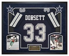 f073cbb72 Tony Dorsett Autographed Dallas Cowboys Jersey - Custom Framed Shadow Box -  JSA Will display nicely