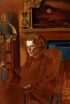 Red Portrait (1937), one of Wyndam Lewis's many Froanna portraits of his wife.  Wyndham Lewis Memorial Trust: G. and V. Lane Collection   © The Estate of Mrs G.A. Wyndham Lewis: The Wyndham Lewis Memorial Trust,