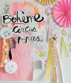 mood board by Bohème Circus - Article sur le mur d'inspiration/ mood boad dans le Marie Claire idées n°100 - janvier/fevrier 2014