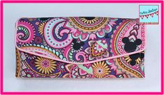 Necessary Clutch Wallet NCW Wallet Paisley Mickey Heads