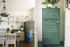 Chalkboard Fridge   40 Creative Ways to Use Chalkboard Paint
