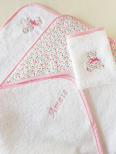 Bathing cape bath outing personalized gift birth gift Cape Bebe, Name Embroidery, Birth Gift, Pink Tone, Welcome Baby, Toiletry Bag, Paper Gifts, Gifts For Boys, Baby Gifts