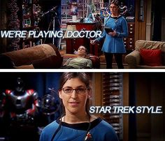 TheBigBangTheory - Playing (‪#‎StarTrek‬) doctor!