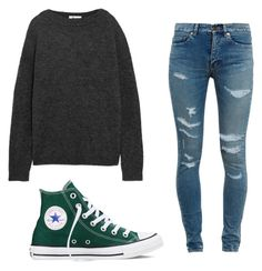 """""""Untitled #40"""" by emma-tomlinson-ii on Polyvore featuring Acne Studios, Yves Saint Laurent and Converse"""