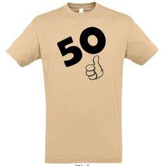 50. születésnapra OKÉ férfi póló homok színben Mens Tops, T Shirt, Women, Fashion, Moda, Tee Shirt, Fashion Styles, Fashion Illustrations, Tee