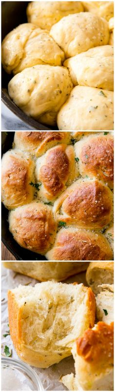 Sea salt & herb skillet rolls are the fluffiest, softest, most flavorful homemade rolls to have with dinner tonight!