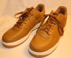 NIKE ID AIR FORCE 1 SHOE TAN WHITE TAN SPECKLE 808791-981 NEW SZ 11.5 #Nike #BasketballShoes