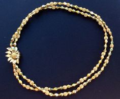 Crown Trifari Aurum Bead Two Strand Necklace with by junquegrl