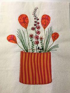 Disse fine blomster er syet af min kursist Ulla Nilsson hos Speich Design i 2016.