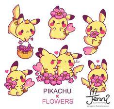 Artist: Jenni Illustrations Showering with pikachu love Kawaii Doodles, Cute Kawaii Drawings, Kawaii Chibi, Kawaii Art, Pokemon Pins, Pokemon Comics, My Pokemon, Anime Comics, Pikachu Pikachu