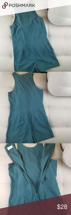 """Lou & Grey Sleeveless Silky Romper with Pockets Lou & Gray Size S Teal  Preloved, no holes, no tears, no stains.  Be sure to check out my entire closet and filter for your size to see what else you can find. Bundling gives you the BIGGEST DISCOUNT!  Underarm to underarm: 18"""" Length from shoulder to hem: 32.5"""" Lou & Grey Shorts"""