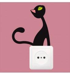 Sticker Prise chat qui regarde