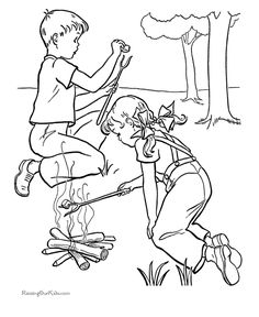 Printable Camping Coloring Pages Sheets And Pictures Are Fun For Kids