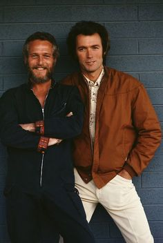 Paul Newman and Clint Eastwood photo by Terry O'Neill, 1972 Clint Eastwood, Vintage Hollywood, Classic Hollywood, Paul Newman Robert Redford, Viejo Hollywood, Terry O Neill, Mode Man, Famous Faces, Beautiful Moments