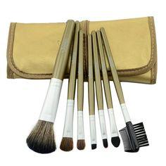 Aluminum 7Pcs Professional Kit Brush Lot Makeup Brushes Cosmetic Make Up Set