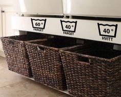skittentøy sortering - Google-søk Laundry Room Inspiration, Hanging Canvas, Modern Kitchen Design, Dream Rooms, Getting Organized, Home Organization, Storage Chest, Interior Decorating, Furniture