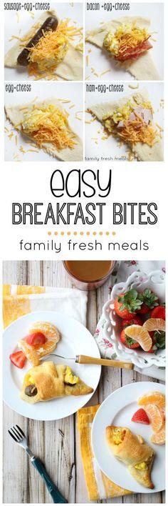 Easy Breakfast Bites -Yummy breakfast your family will love -  http://FamilyFreshMeals.com -