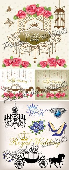 Bachelorette party invitation vector you can personalize it with royal style wedding vector stopboris Gallery
