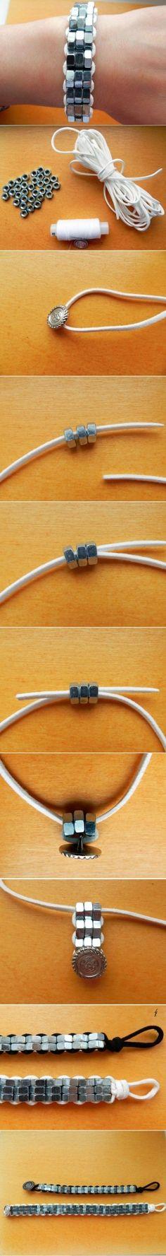 DIY Steel Nuts Bracelet DIY Steel Nuts Bracelet by diyforever