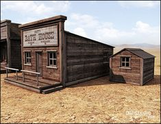 Old West Bath House | 3D Models and 3D Software by Daz 3D