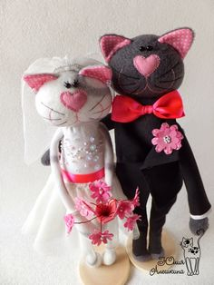 bride & groom kitty dolls