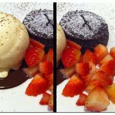 Chocolate lava with vanilla ice-cream...