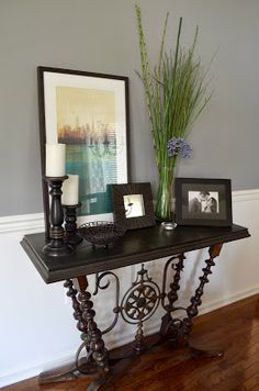 I want an entry table like this! Love the basket storage underneath. | For the Home | Pinterest | Entry tables Basket storage and Storage : console decorating ideas - www.pureclipart.com