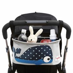 This adorable Whale Stroller organizer is a gift every mom-on-the-go needs!