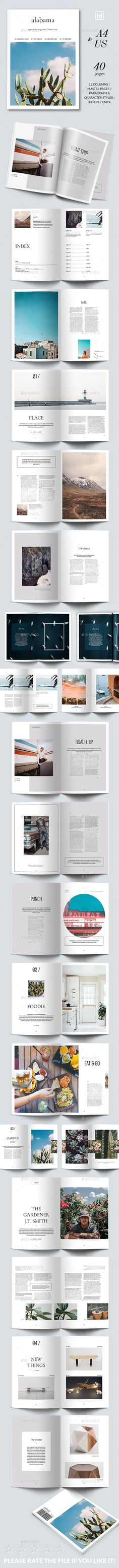 Alabama Magazine Template InDesign INDD