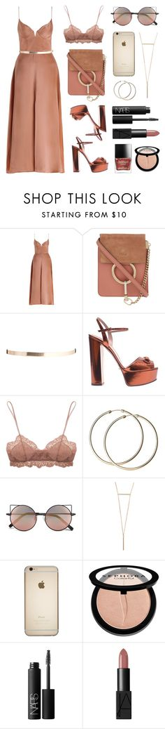 """""""Metallic"""" by baludna ❤ liked on Polyvore featuring Zimmermann, Chloé, ASOS, Gucci, Eberjey, Linda Farrow, Sephora Collection and NARS Cosmetics"""