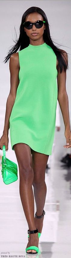 Green dress Ralph Lauren 2014 RTW