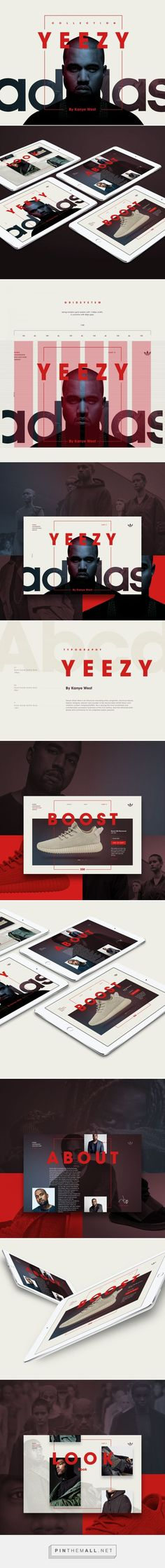 Adidas Yeezy Microsite on Behance... - a grouped images picture - Pin Them All