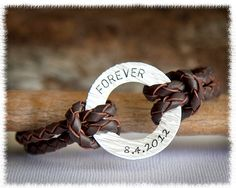 Men S Personalized Jewelry Custom Leather By Suedesentiment 40 00 Bracelets Gifts For