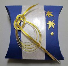 Gift pillow using Mizuhiki