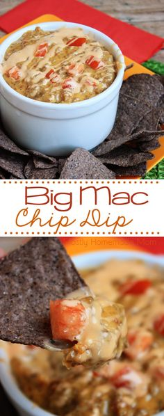 Big Mac Chip Dip - This dip tastes just like that famous cheeseburger - even with special sauce! This is a perfect recipe for any party you have coming up!