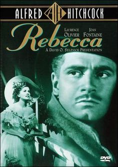 This book and movie rocked my world. Rebecca - Alfred Hitchcock film starring Joan Fontaine and Laurence Olivier; Plot - Second wife is haunted by the shadow of beloved first wife at her husband's mysterious south England estate.