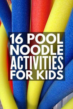 Super Day Camp Games For Kids Pool Noodles Ideas Noodles Games, Pool Noodle Games, Pool Noodle Crafts, Pool Noodles, Pool Games, Yard Games, Fun Crafts For Kids, Craft Activities For Kids, Summer Activities
