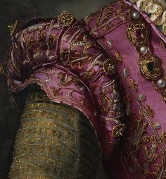 Detail from Portrait of a Lady by Alessandro Allori Thought to be Camilla de Medici